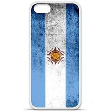 Coque housse étui tpu gel motif drapeau Argentine Iphone 5 / 5S