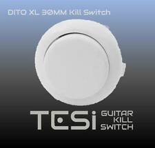 Tesi DITO XL Snap In 30MM Arcade Button Guitar Kill Switch - White