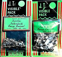 Jeros Tackle Scotchline Interlock Snap Swivel Choice of Size (One Package )