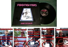 "FOO FIGHTERS signed ""SAINT CECILA"" ALBUM EP - EXACT PROOF - Dave Grohl x5 COA"