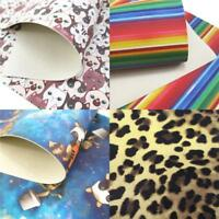 20*34cm Cat PU Systhetic Leather Fabric Sheets DIY Handmade Craft Hair Bows