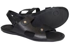 Giovanni Conti 531-01 Italian mens black sandals