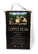 "Advice from a Coffee Bean Inspirational 5.5""x8.5"" Wood Plaque Sign for Wall"