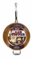 As Seen on TV  Red Copper  Ceramic Copper  Fry Pan  12 in. Red