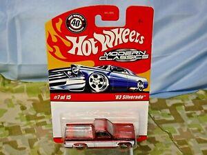 Hot Wheels MODERN CLASSICS 1983 CHEVY SILVERADO M0514 #7 Rare NRFP (DC-393)