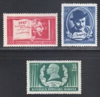 Romania 1952 MNH Mi 1386-1388 Sc 813-815 Ion Caragiale ** Romanian playwright