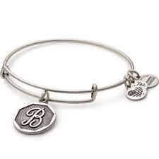 ALEX AND ANI Initial B Charm Bangle Bracelet ~ A-1