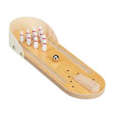 Tischbowling Mini Bowlingbahn Minispiel Partyspiel 10Pins Geschicklichkeitsspiel