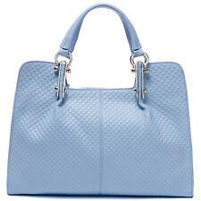 """Thompson Luxury Bags """"Melissa"""" Rhombus Leder Tasche h-blau Handtasche UVP 198 €"""