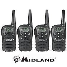 4 Pack Midland Xtra Talk LXT118 Two Way Radio Walkie Talkie FRS 18 Mile Set 22ch