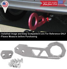 Aluminum Anodized Silver Rear Bumper Tow Hook Towing For Ford Chevy Dodge
