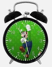 "Luigi Super Mario Alarm Desk Clock 3.75"" Home or Office Decor Z81 Nice For Gift"