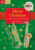 Merry Christmas für B-Instrumente - Trompete, Klarinette oder Tenorsaxophon