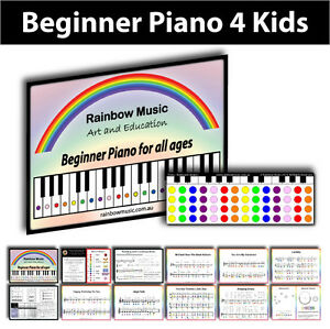 Beginner Piano for Kids - Using the colours of the Rainbow