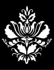 high detail airbrush stencil damask forty five pattern FREE UK POSTAGE