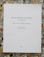 M. IMBERT, Bibliographie des livres et plaquettes de Christian Dotremont