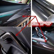 "15"" x40"" 5D Ultra Shiny Gloss Glossy Black Carbon Fiber Vinyl Wrap Sticker Decal"