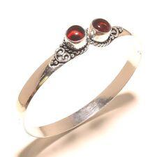 925 Silver Plated Jewellery Garnet Stone Cuff Bangel