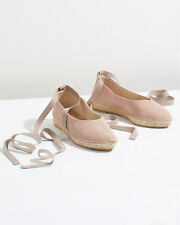 Jigsaw Emporda Ankle Tie Espadrille Womens New Pink Blush