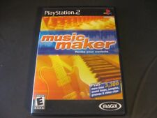Music Maker Magix Playstation 2 PS2 Video Game Manual Case Black Label