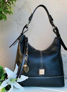 Dooney & Bourke GRACIE pebbled leather shoulder bag hobo purse handbag tote blk