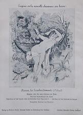 """/"""" Die Badende Akt Nude 3/""""Linolschnitt black unsigniert"""