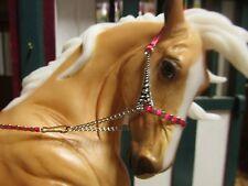 Jaapi PINK/SILVER ornate Arabian halter - fits Breyer/Peter Stone model horses