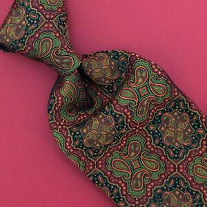 Robert Talbott Carmel Tie Art Nouveau Paisley Jacquard Red Green Men Ties NWT
