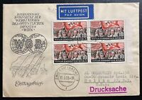 1955 Zwickau East Germany DDR First Day Cover FDC To Hollis NY USA WGB