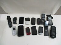 Lot Of 15 Cell Flip Phones For Parts Or Repair Samsung Nokia LG Untested (AWS)