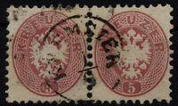 1864 5kr, PAAR! KREMSIER Stempel.