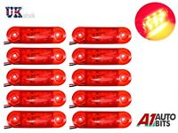 10x Led 24v Side Red Rear Tail Side Marker Lamps Light Truck Lorry Outline