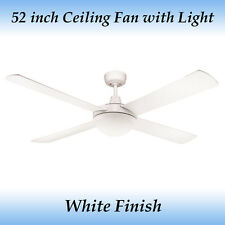Genesis 52 inch (1300mm) White Ceiling Fan with Light
