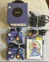 Nintendo GameCube Console Bundle + 2 Controllers Mario Sunshine