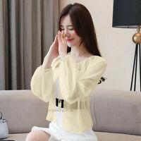 Summer Women Cardigan Chiffon Capelet Shawl Coat Sun Protection Shirt Blouse Top