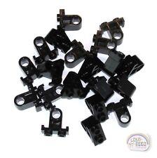 LEGO Technic - 20 x Pin Connector Plate, Inv - 1 x 2 x 1-2/3 - Black - New