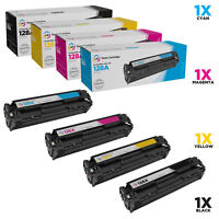 LD Remanufactured Replacements for HP 128A Toners: Black Cyan Magenta Yellow