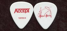 ACCEPT 2010 Blood Tour Guitar Pick!!! HERMAN FRANK custom concert stage Pick