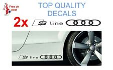 2 x audi S-Line  side sill / door / window ect  Sticker   Decal