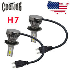 2x Cooligg H7 LED Headlight Conversion Bulbs Kit Beam 6000K 1200W 180000LM White