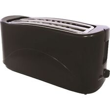 4 SLICE ELECTRIC BREAD TOASTER TWIN SLOT KITCHEN SLIDE OUT CRUMB TRAY black