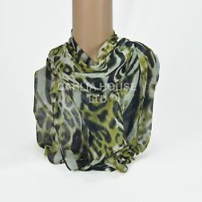LADY WOMEN FASHION STYLE TIGER PRINT SCARF SHAWL  DIFF. COLORS Polyester