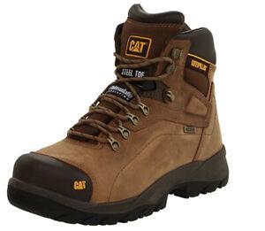 Caterpillar Men's Diagnostic Waterproof Steel-Toe Work Boot Size 12 WIDE