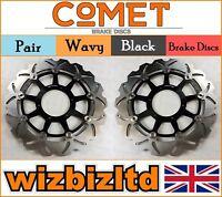 COMET Pair Front Brake Discs Honda VTR 1000 SP-Y/SP-1 (SC45) (SP1) 00-01 W921BK