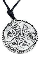 Triquetra Cat Pendant Book Of Kells Celtic World Guardians Lace Cord Necklace