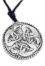 Colgante Gato pendientes Libro de Kells Celta Collar De Cable De Encaje guardianes del mundo