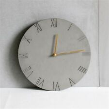 DIY Concrete Cememnt Mould Wall Clock Shape Handmade Hanging Clock Silicone Mold