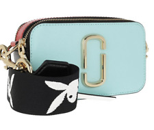 BNWT Marc Jacobs Snapshot Turquoise Baby Blue Block Small Camera Crossbody Bag