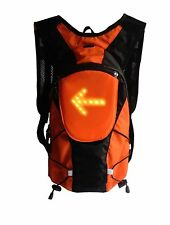 BIKE CYCLE BAG BACKPACK  LIGHT UP TURNING SIGNALS. NEW 5L ROAD SAFETY WIRELESS