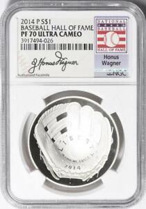 2014-P Baseball HOF Commemorative Silver Dollar - NGC PF-70 UCAM - Honus Wagner